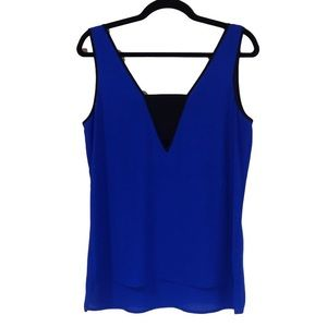 Express Blue and black tank top